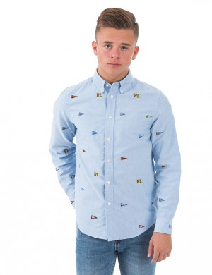 SCHIFFLI BUTTON DOWN